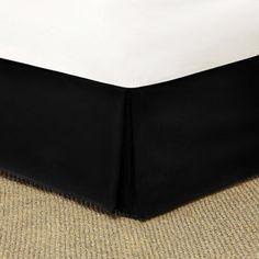 SON'S BEDROOM - Mainstays Bedskirt - Twin Size - Brownstone - $10.  http://www.walmart.com/ip/Mainstays-Microfiber-Bedskirt-Black/13003835