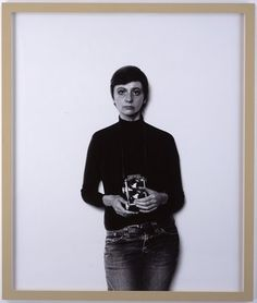 This is really great for a basic shot - the lighting and shadows are good - Self Portrait, Diane Arbus