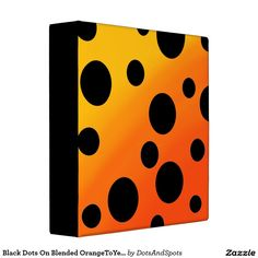 Black Dots On Blended OrangeToYellow Binders