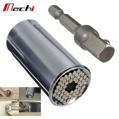5.91$ (Buy here: http://alipromo.com/redirect/product/olggsvsyvirrjo72hvdqvl2ak2td7iz7/32611080043/en ) Binoax 2 Piece/Set Gator Grip Multi Function Ratchet Universal Socket 7-19mm Power Drill Adapter Car Hand Tools Repair Kit for just 5.91$