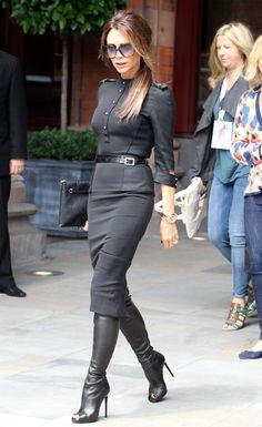 Victoria Beckham leaving 'Viva Forever' press launch St. Pancras Renaissance Hotel in London - 26 Jun 2012