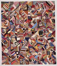Quilt Top, Crazy pattern    Date:      ca. 1885  Geography:      Mid-Atlantic, New York, United States  Culture:      American  Medium:      Silk, satin, velvet, and cotton  Dimensions:      60 3/4 x 52 in. (154.3 x 132.1 cm)  Classification:      Textiles  Credit Line:      Gift of Tracey Blumenreich Zabar, 1989  Accession Number:      1989.66