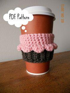 Ravelry: Cupcake Coffee/Tea Cup Cozy FREE pattern by Sarah Mancini