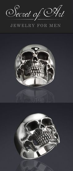 983dc0f4d874 Very fine Skull ring  Symbol Of Mortality   Modesty. This high-quality  silver