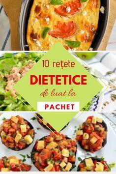 Rețete dietetice – o colecție de rețete cu puține calorii, gândite special pentru pachetul de la serviciu. Rețete ușoare, cu ingrediente sănătoase. Gata, vacanța s-a sfârșit, de mâine mergem cu toții la serviciu. Și cum venim după o lungă perioadă de leneveală și de excese alimentare, începem să ne gândim cu îngrijorare la pachetul pentru... Read More The post Rețete dietetice pentru pachetul de la serviciu appeared first on Bucate Aromate. Healthy Eating Recipes, Low Carb Recipes, Vegetarian Recipes, Cooking Recipes, Easy Cooking, Healthy Cooking, Guacamole, Make Ahead Lunches, Romanian Food