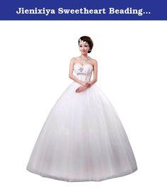 Jienixiya Sweetheart Beading Ball Gown Wedding Dress Size 26 Plus US. Floor length sweetheart wedding dress.