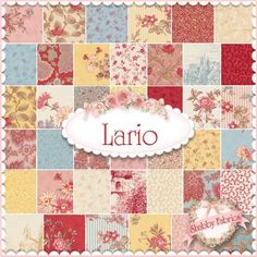 """Lario  Charm Pack by 3 Sisters for Moda Fabrics: Lario by 3 Sisters for Moda Fabrics.  100% cotton.  This charm pack consists of 42 squares, each measuring 5"""" x 5""""."""