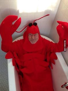 Patrick Stewart's halloween costume.