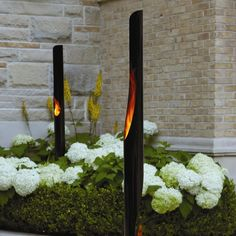 The Absolute Steel Bio Ethanol Outdoor Fireplace is a modern sleek torch designed for garden and patio use. This torch is designed so you have a 360 degree view of the flame.