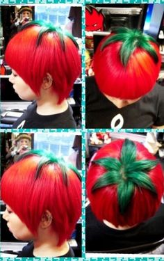 This is what kids are up to these days in Japan. The ripe tomato haircut has become THE trend among Japanese teens who enjoy the bizarre look. The credit goes to Hiro, a stylist who works at the Trick Store, a hair salon in Osaka. Hiro refers to the ripe tomato 'do as his masterpiece & has a knack for creating other outrageous looks too. Although teens in United States have been known to go wild every so often, it might be a while before Americans ketchup to the trend.