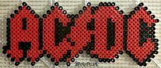AC/DC Logo perler beads by PerlerPixie