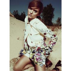 in the desert heat elyse saunders by jean-claude lussier for elle... found on Polyvore