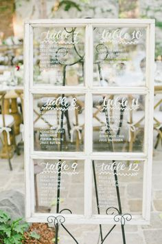 window seating chart - photo by Onelove Photography http://ruffledblog.com/romantic-old-souls-wedding