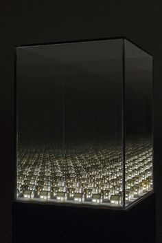 Visual artist Guillaume Lachapelle created a series of light installations for his project 'Visions'. Based in Montréal, the artist works across a variety of media. Infinite Mirror, Glass Installation, 3d Printing Technology, Mirror Art, Mirrors, Canadian Artists, To Infinity And Beyond, Light Art, Box Art