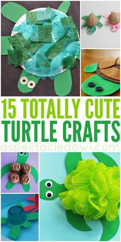 15 Totally Cute Turtle Crafts for Kids