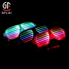 ffaf3e097836da Wholesale Direct Factory Shutter Raves Multi Color Led Flashing Sunglasses  Music   Sound Reactive Light Up