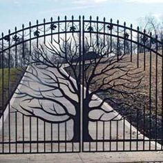 Drive gate from Fortin Ironworks in Columbus, OH
