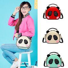 Cute Panda Cartoon Shoulder Bag Fashion Women Round Handbag Crossbody Bag