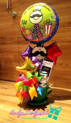 Homeade Gifts, Photos Booth, Troll Party, Balloon Gift, Beautiful Morning, Gift Baskets, Fathers Day, Balloons, Wraps