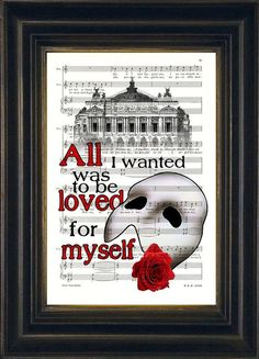 Phantom of the Opera Paris Opera House Quote on by ForgottenPages, $8.00