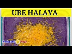 Ube Halaya with Cheese can be served for dessert. It makes a good topping for halo-halo, and you can also spread this on your pandesal, and eat if for breakfast.