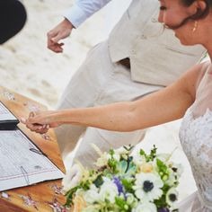 Civil Wedding, Legal Ceremony, Tulum, Beach, Destination, Wedding By: Tulum Living Weddings Photo from April + Chris collection by Viejo Lobo Films