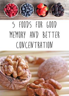 If you forget things and you cannot concentrate, do not worry.Today I provide you a list of 5 food that are great for good memory and better concentration.