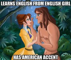 Just like Simba has an American accent but all the female lions have African-American accents...