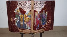 real book painting by me with  saints !