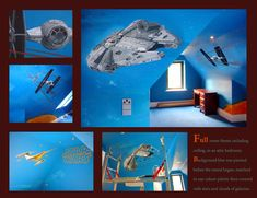 Murals by One Red Shoe, Cheshire Hand Painted Walls, Bespoke Design, Red Shoes, Wall Murals, Liverpool, Star Wars, Mural Ideas, Millennium Falcon, Stars