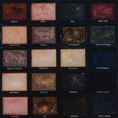 Make up beauty aesthetics // palette dark grunge tumblr hipsters