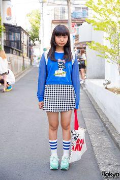 WEGO Sweatshirt & Gingham Skirt
