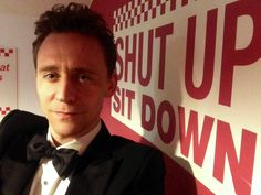 """taken at a Burger joint called """"Five Guys"""" in London after the Olivier Awards in April"""