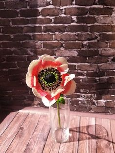 Anemones from cold porcelain Anemone Floral arrangements Cold