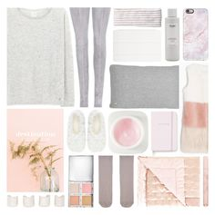 """home / chill"" by foundlostme ❤ liked on Polyvore featuring Maison Margiela, Balmain, Capelli New York, Apple, Ouai, Casetify, ferm LIVING, e.l.f., Max&Co. and Erno Laszlo"