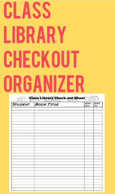 *FREE* Do you have a classroom library? Are you tired of books sneaking off? Here is a simple check out/check in system to help keep track of your books!  Whenever we fill up one of these in my class, we take it down from the wall and do a class book check and make sure that we all know where our books are. These have really helped our class library stay healthy and accounted for!
