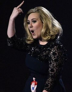 Adele - What a crass lovely lady.