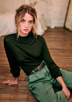 Love the colour, fit and cuff detail on this! Mode Outfits, Fall Outfits, Casual Outfits, Fashion Outfits, Grunge Outfits, Looks Style, Style Me, Moda Fashion, Womens Fashion