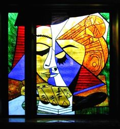 picasso stained glass