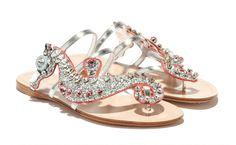 These seahorse glitter sandals just hit Miu Miu stores.