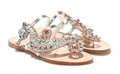 These seahorse glitter sandals just hit Miu Miu stores.