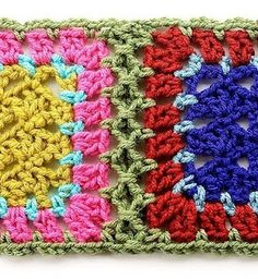 Fancy way to join crochet squares.