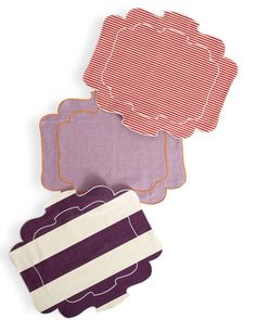 La Gallina Matta's Parentesi placemats.  They are darling and the best part is, they are coated linen...so practical!