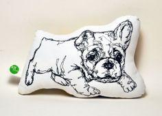 Bulldog Thread Drawing Plushie by KLTworks on Etsy, $24.00