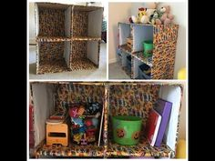 Diy box recycle shelves 32 new Ideas Diy Storage Organiser, Fabric Storage Bins, Shoe Organizer, Organizers, Cardboard Box Crafts, Cardboard Furniture, Cardboard Organizer, Cardboard Cartons, Toy Shelves