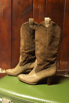 cowboy boots, vintage.