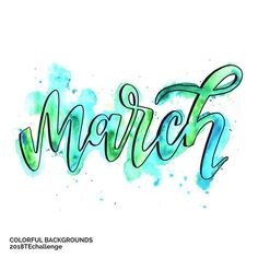 Ready for March? #2018techallenge This month we're exploring backgrounds and washes with watercolors. And ways you can incorporate them into your lettering. Find out more on TwoEasels.com/2018challenge or go to the link in my profile and look for the 2018 challenge there. It's FREE! . . #letteringnewbie #watercolorlettering #marchchallenge #colorfullycrafted #watercolor #lettering #learnlettering #twoeaselsstudio #handletteringchallenge @letteringchallenges #letteringchallenge