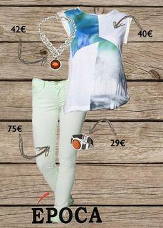 Look primaveral #ciclon #bisuteria #salsa #salsajeans #epoca #lookepoca #fashion