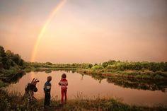 First rainbow Photo by Aliona Birukova — National Geographic Your Shot
