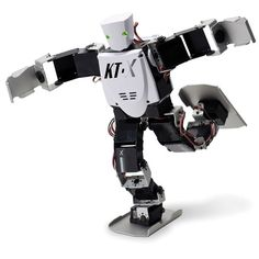 Name - Acrobatic Robot  Key Functions - 75 moves that include somersaults, backflips, and playing an air guitar solo.  Website - http://jetsparkrobotics.com/  Email: jetspark.robotics@gmail.com